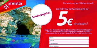 5 Euro Coupon Air Malta Tauchgepäck